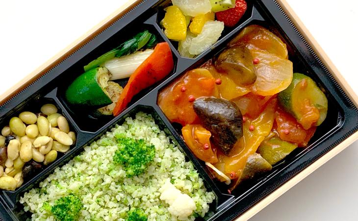 旬野菜のラタトゥイユBENTO / カリフラワー&ブロッコリーライス